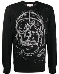 Alexander McQueen Graphic-print Sweatshirt - Black