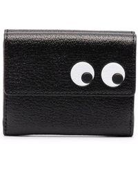 Anya Hindmarch Eyes Leather Cardholder - Black