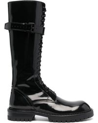 Ann Demeulemeester Lace-up Knee Length Boots - Black