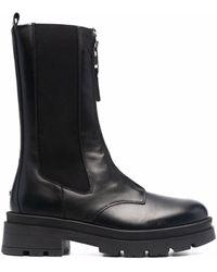 Anine Bing Jasper Zipped-up Combat Boots - Black