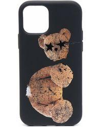 Palm Angels Sprayed Bear Iphone 12 Pro Case - Black