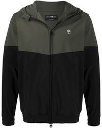 Hydrogen Bi-colour Hooded Track Jacket - Black