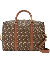 Burberry Tb Monogram Print Briefcase - Brown