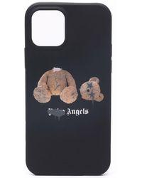 Palm Angels Iphone 12 Pro Teddy-bear Print Case - Black