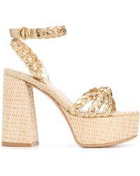 Gianvito Rossi Braided Platform Sandals - Metallic