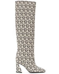 Ferragamo Antea Gancini Knee High Boots - Multicolor