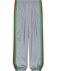 Gucci Reflective Side Stride Track Trousers - Metallic
