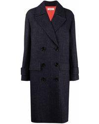 Nina Ricci Double-breasted Tailored Coat - Blue