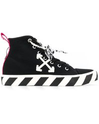 Off-White c/o Virgil Abloh Arrows High Top Trainers - Black