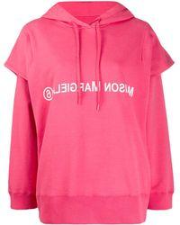 MM6 by Maison Martin Margiela Double Sleeve Logo Hoodie - Pink