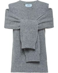 Prada Wool And Cashmere Sweater - Gray