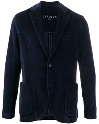 Circolo 1901 Corduroy Single-breasted Blazer - Blue