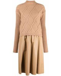 DROMe High-neck Sweater Dress - Multicolour