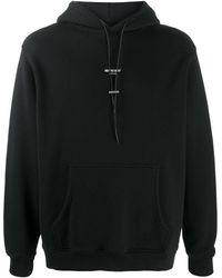 Represent Mini Logo Print Hoodie - Black
