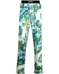 Tom Ford - Floral-print Silk Trousers - Lyst