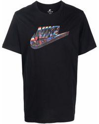 Nike Swoosh-print T-shirt - Black