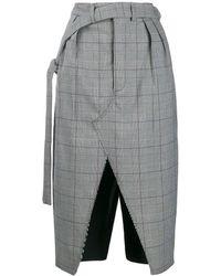 Unravel Project Front Slit Skirt - Black