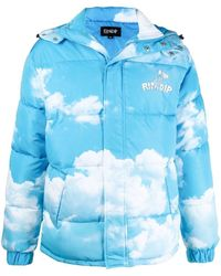 RIPNDIP - 'heaven And Hell' Clouds-print Padded Jacket - Lyst