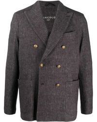 Circolo 1901 Double-breasted Blazer Jacket - Brown