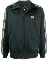 Needles Side Stripe Sports Jacket - Green