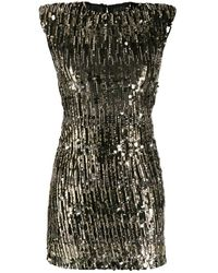 Pinko Sequin Embroidered Mini Dress - Black