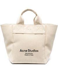 Acne Studios Large Canvas Tote Bag - Multicolour