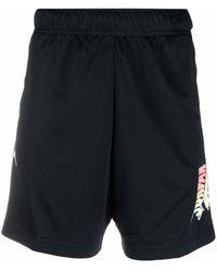 Nike Logo-print Mesh Shorts - Black