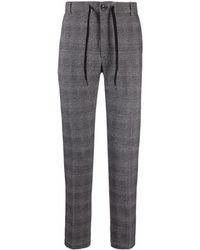 Circolo 1901 Drawstring Check Tailored Pants - Black