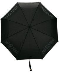 Moschino Medium Logo Umbrella - Black