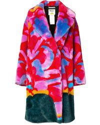 Stella McCartney X The Beatles Graphic-print Faux-fur Coat - Red