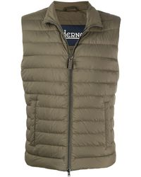 Herno Padded Zip-up Gilet - Green