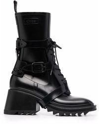 Chloé Betty Harnessed Rain Boots - Black
