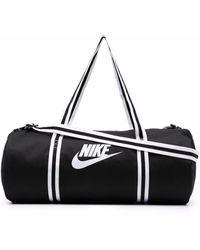Nike Swoosh-logo Zipped Tote - Black