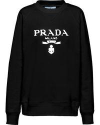 Prada Logo-print Sweatshirt - Black