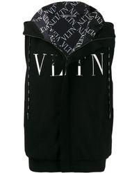 Valentino Vltn Print Gilet - Black