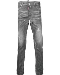DSquared² - Distressed-finish Denim Jeans - Lyst