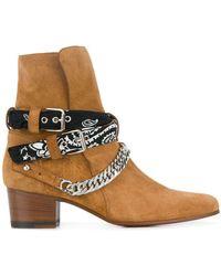Amiri Bandana Buckle Boots - Brown