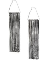Christopher Kane Crystal Cascade Earrings - Metallic