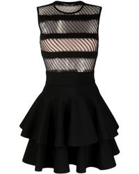 Antonino Valenti Cut Out-detail Mini Dress - Black
