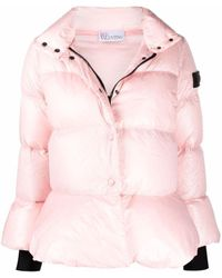 RED Valentino Logo-patch Padded Jacket - Pink