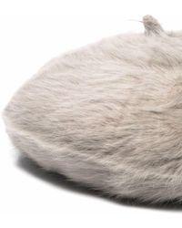 Catarzi Fur-trimmed Beret - Multicolour