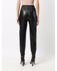 Ermanno Scervino Elasticated Faux-leather Trousers - Black