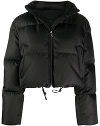 Prada Cropped Padded Jacket - Black