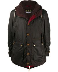 Barbour Game Waxed Parka Jacket - Brown
