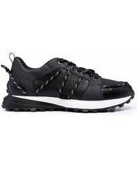 Canali Lace Low-top Sneakers - Black