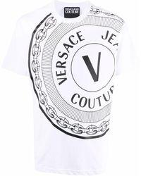 Versace Jeans Couture Logo-print Cotton T-shirt - White