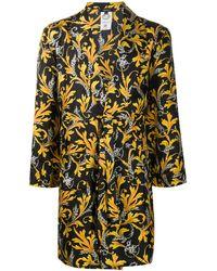 Versace Silk Barocco Robe - Black