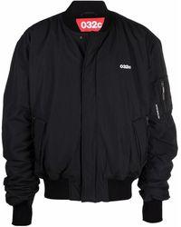 032c Logo-print Bomber Jacket - Black