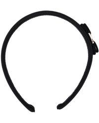 Ferragamo Bow Embellished Hair Band - Black