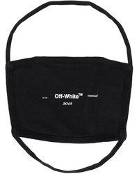 Off-White c/o Virgil Abloh Logo-print Face Mask - Black